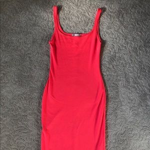 Zara Bodycon Neon Pink Dress